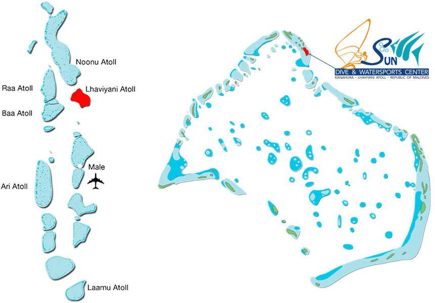 Map of Lhaviani Atoll