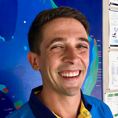 Pieter van Wyk, Diving Instructor